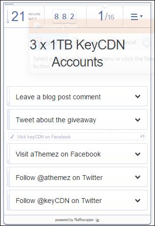 đăng kí nhận KeyCDN