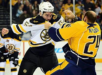 Bruins leave six lumps of coal in net rout predators for Ryan spooner bruins shirt