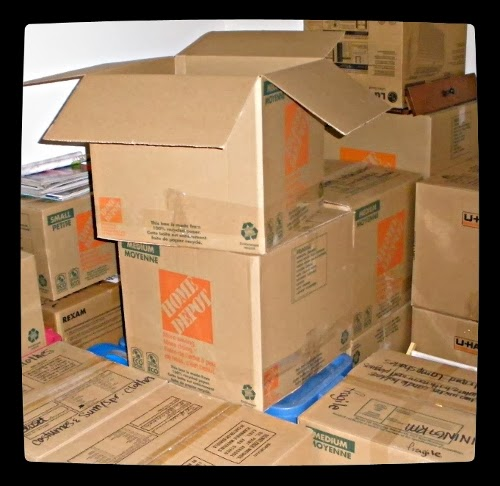My beckers story the challenges of moving into a new for Used boxes for moving house