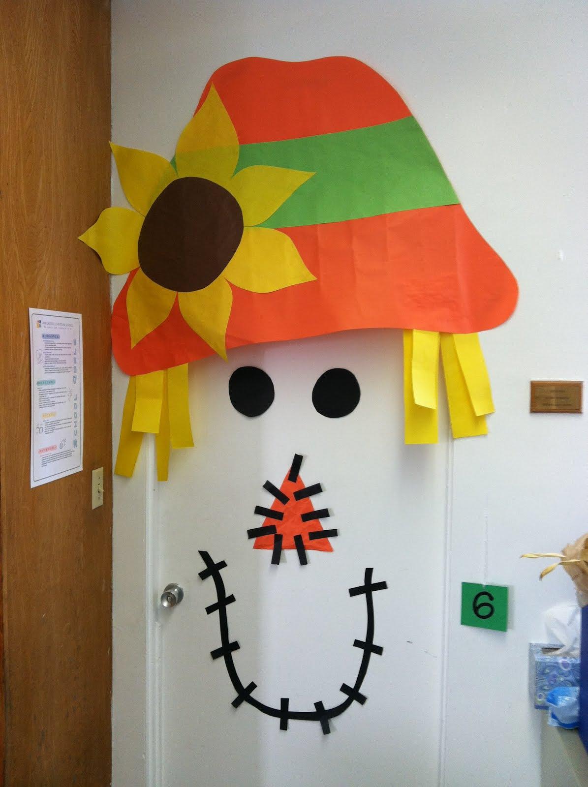 Scarecrow Door Decoration Classroom ~ A day in the life of kindergartner door decorating