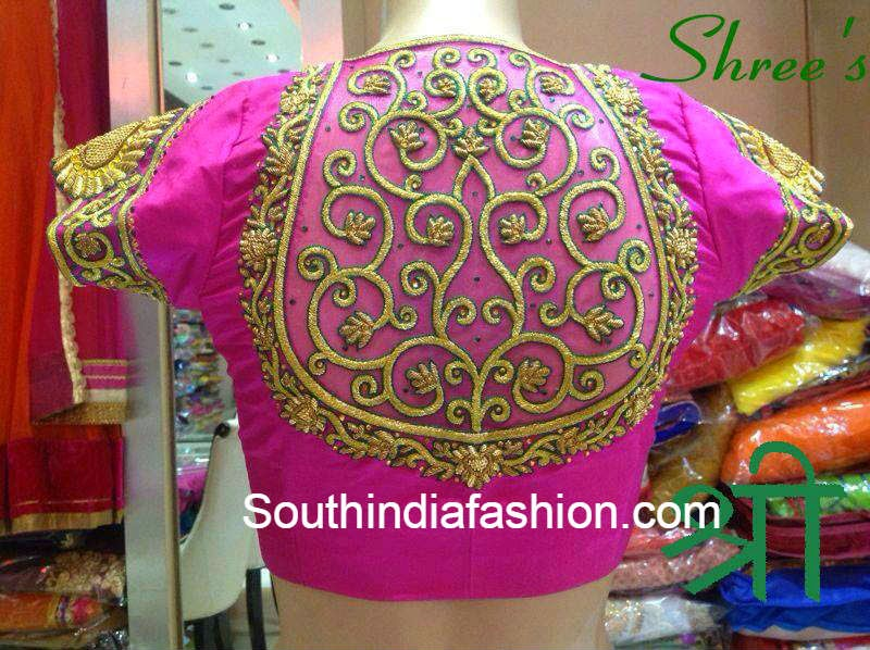 high neck bridal blouse