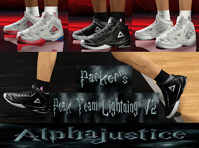 NBA 2K13 Peak Team Lightning Tony Parker Finals Shoes