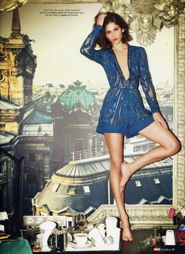 Elie Saab 2015 SS Electric-Blue Sparkling Short Jumpsuit Editorials