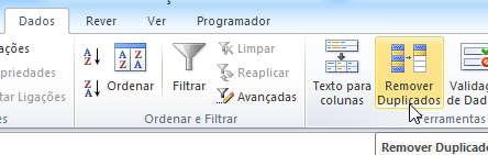 remover duplicados no Excel