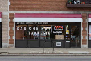 Entrance to Ranchero's Taqueria in Akron, Ohio