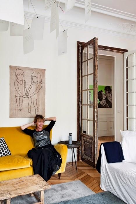 Una casa en París, Clasica, New Classic, La Musa, decoración, decoration, living