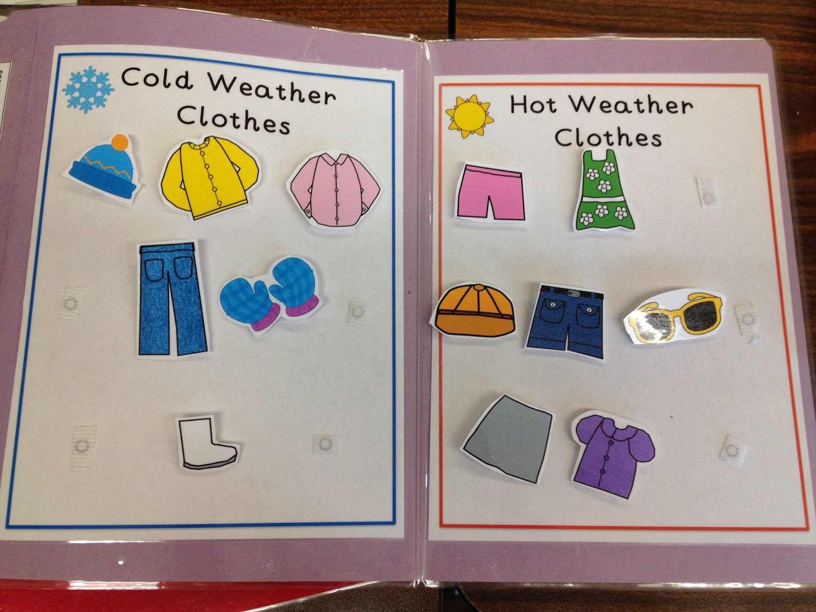 Clothes Sorting By Color ~ Autism tank holiday file folders