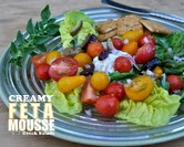 Creamy Feta Mousse with Greek Salads (A Veggie Venture)