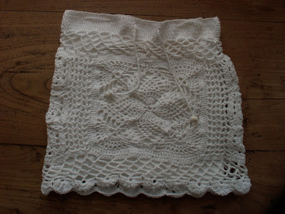Crochet Summer Skirt, White