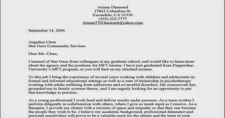 cover letter for mental health job