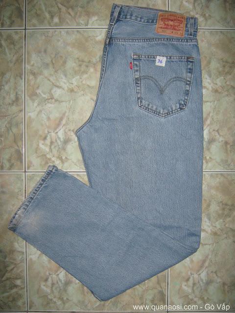 Quần jean LEVIS 550 xanh nhạt giá rẻ 350k