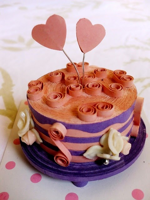 3d paper quilling cake