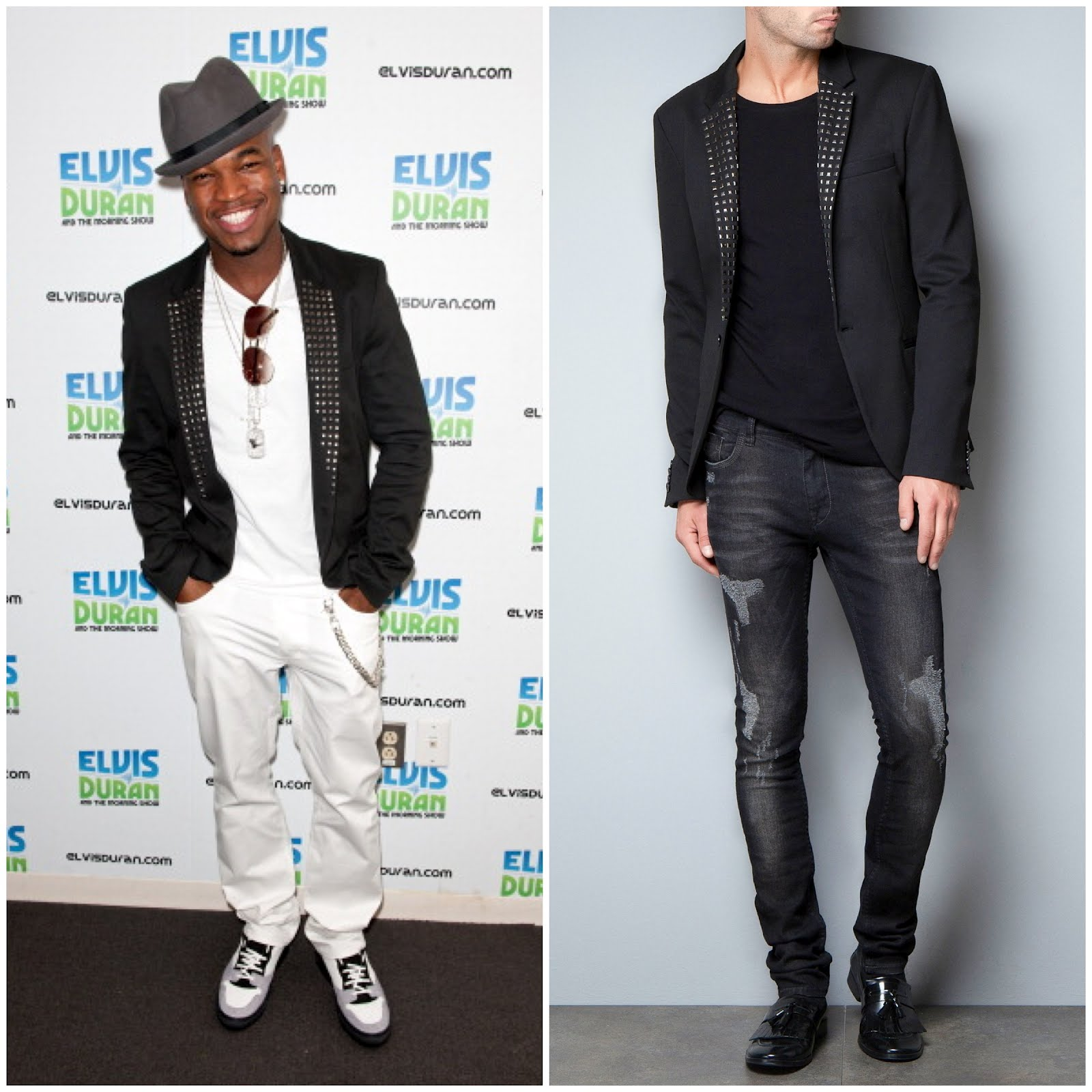 Ne-Yo visits The Elvis Duran Z100 Morning Show at the Z100 Studio on August 2, 2012 in New York City. Zara Blazer and Balenciaga shoes