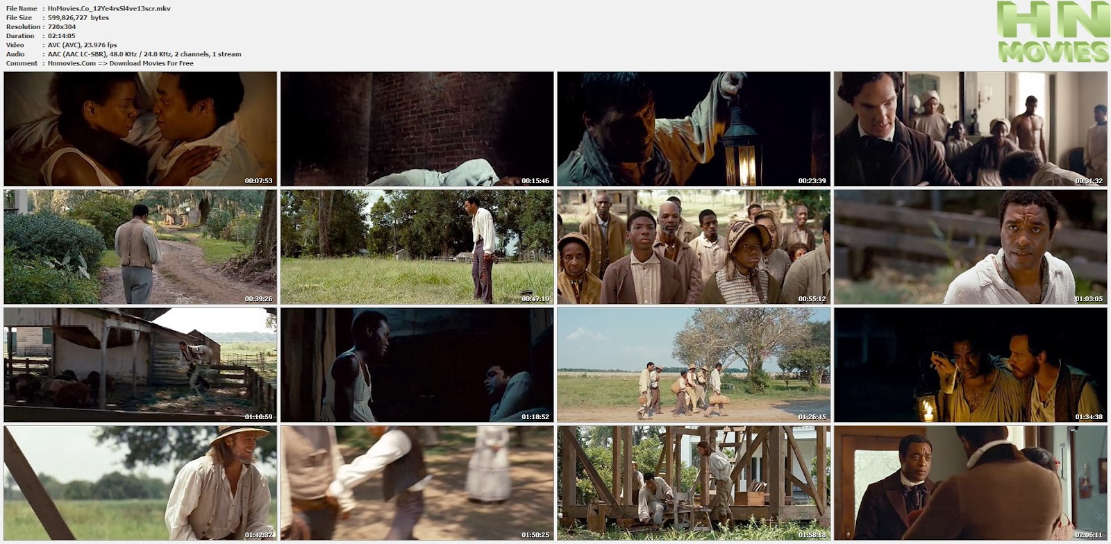 12 Years a Slave (2013) DVDScr 575MB
