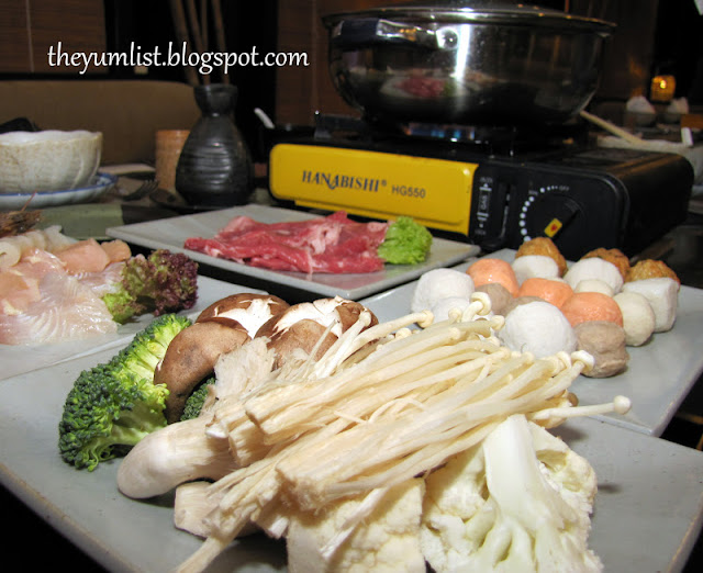 Cameron Highlands Resort, Gonbei Japanese Restaurant, sushi, sashimi, hot pot