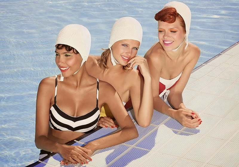 D.W.C. Pin-up Girls At The Swimming Pool - Photographer Ana Dias