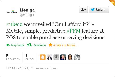 Tweet de Meniga
