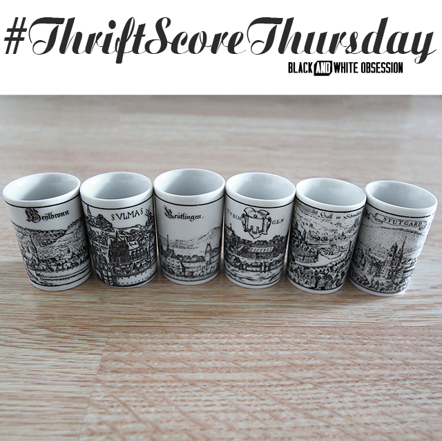 #thriftscorethursday Week 31 Altenkunstadt German Shot Glasses | www.blackandwhiteobsession.com
