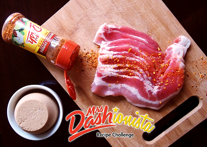 Use Mrs. Dash salt free seasonings to candy bacon with 1/2 C golden brown sugar. Bake on a deep baking sheet at 350F for 20-25 minutes.