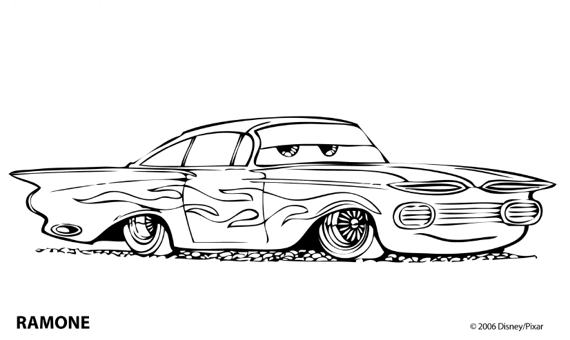 ramone cars coloring pages - photo#7