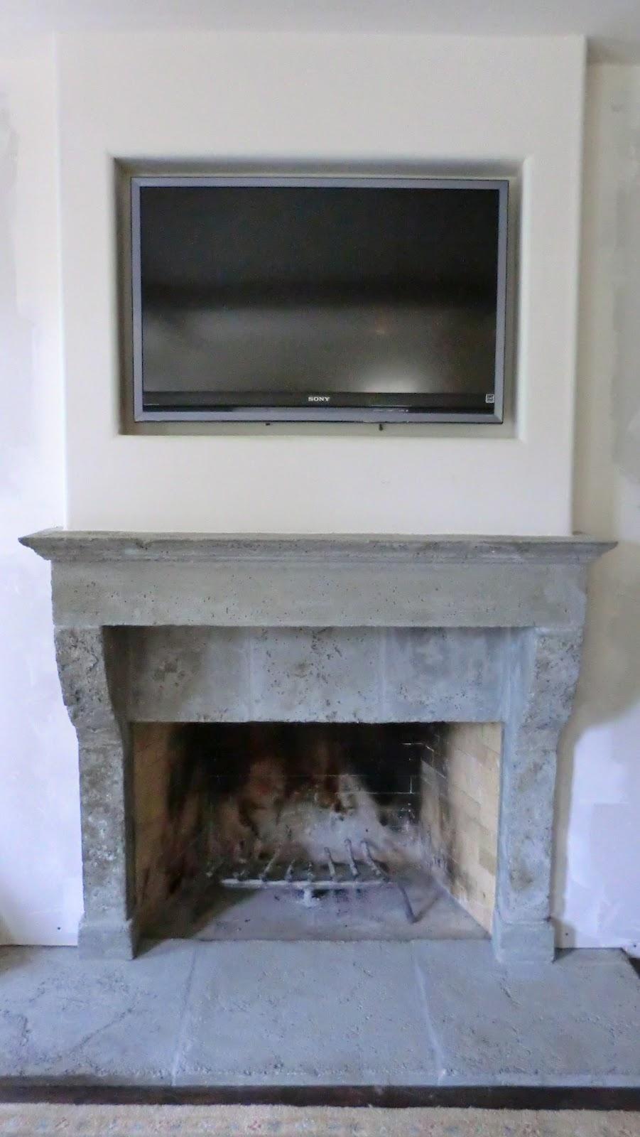 european farmhouse charm tom u0027s rustic fireplace surround