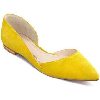 sapatilha colorida amarela