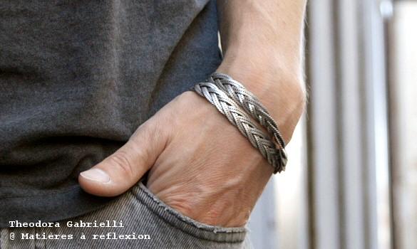 Bracelet homme tresse Théodora Gabrielli