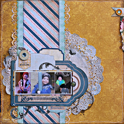 Sweet Moments Scrapbook Page designed by Rhonda Van Ginkel featuring the Juliet collection by BoBunny