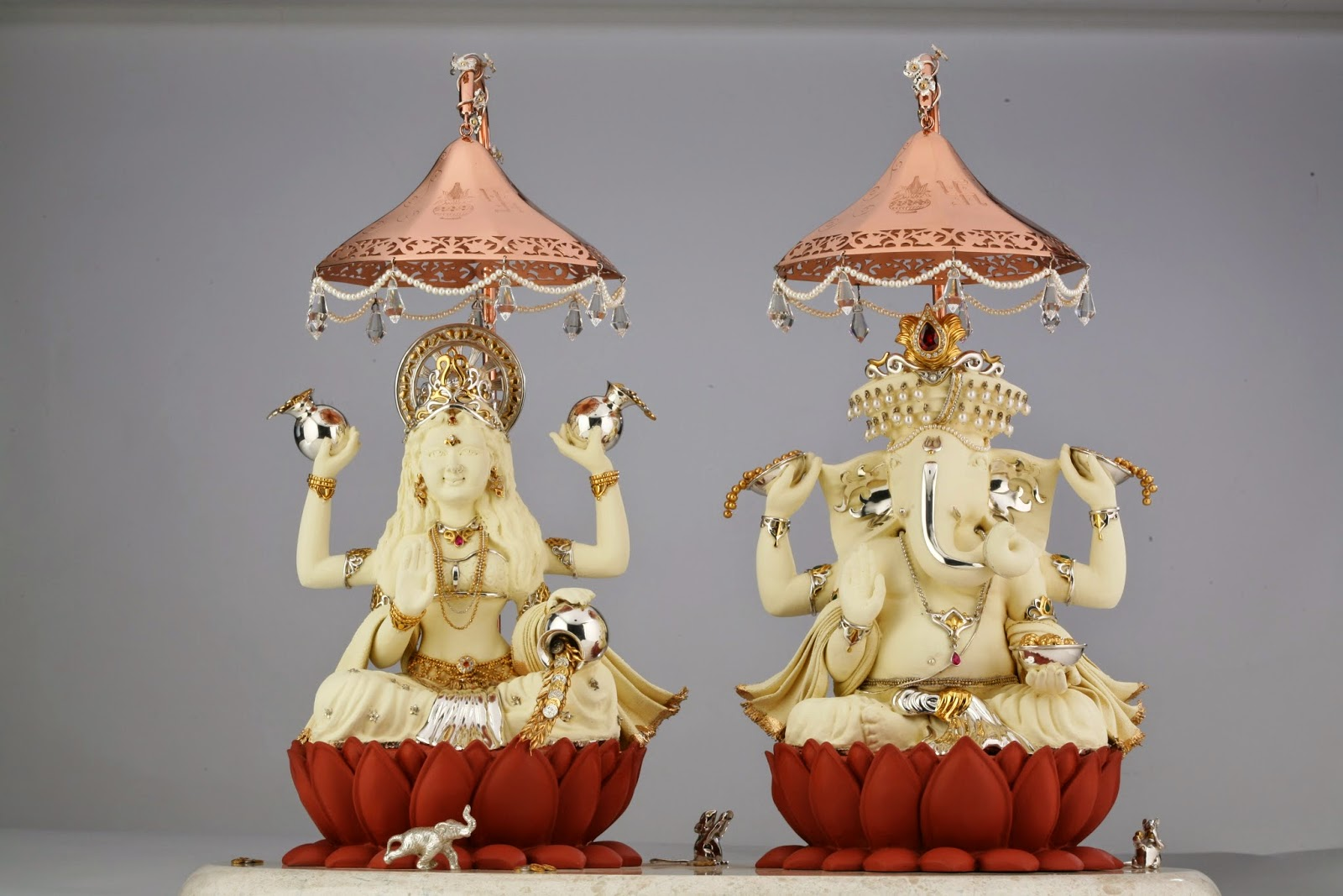 Frazer and Haws - Shopping For Pooja Accessories and Statues of Indian Gods in Silver, Gold or Crystals? This Store Is For You! concept Diyas