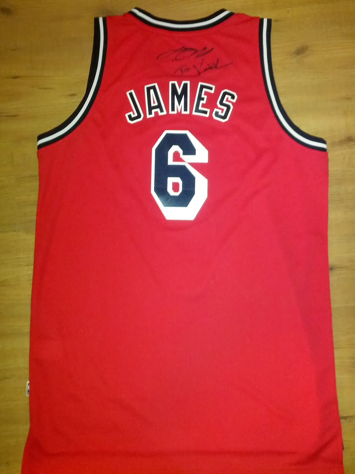 "LeBron James Signed Jersey with Dedication ""To Valerio"" - Miami Heat Hardwood Classics 1995-1999"