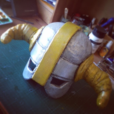 Making the level barbarian helmet from Clash of Clans