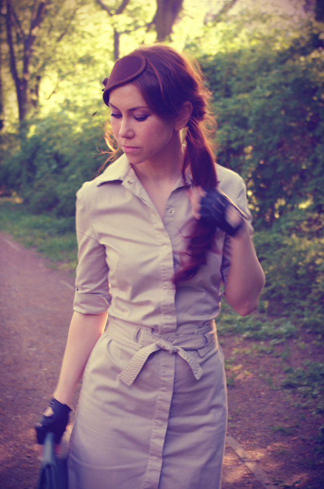 40s inspired look created by Xenia Kuhn for fashion blog www.fashionrolla.com
