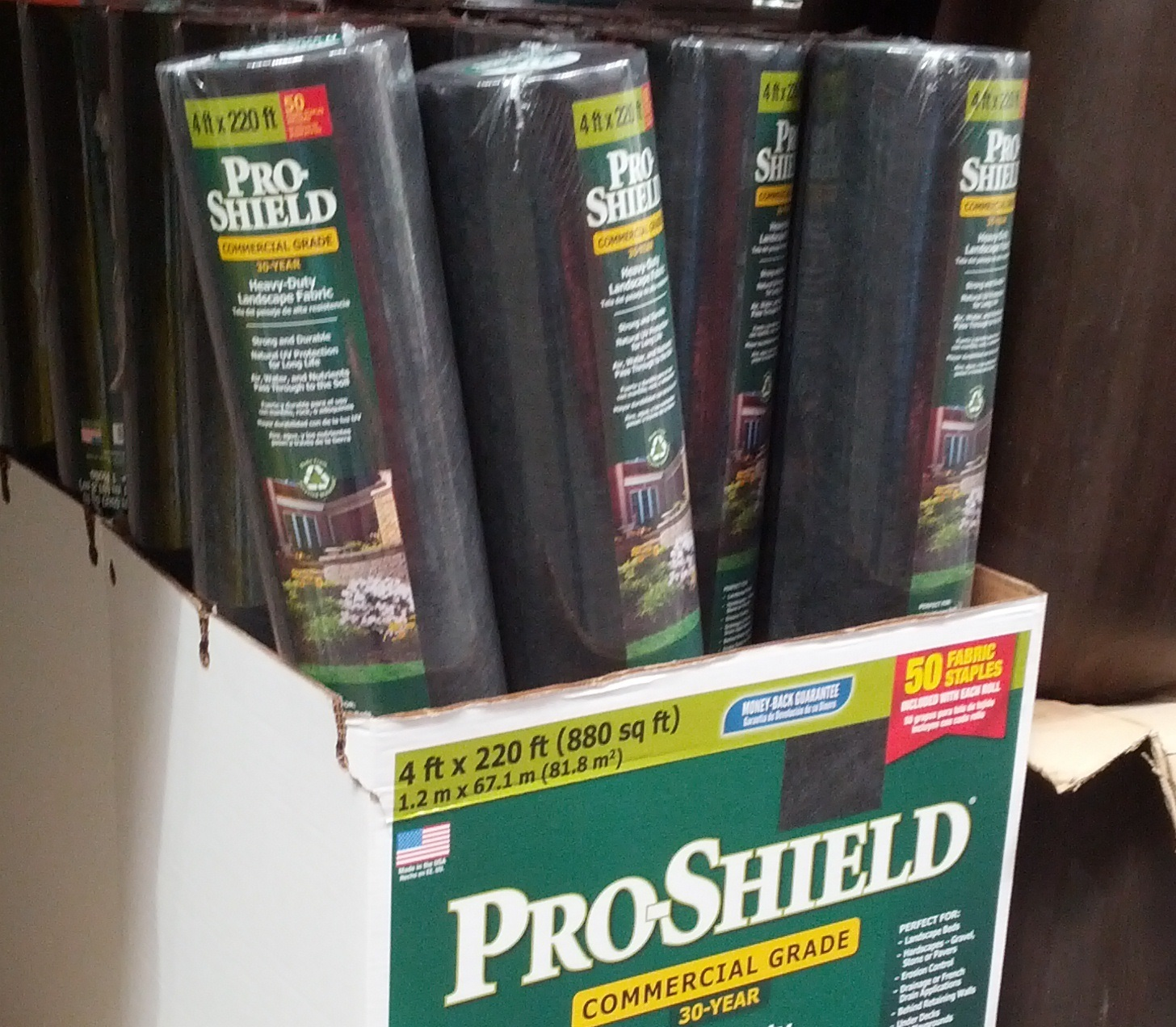 Dalen Pro Shield Landscape Weed Control Fabric – Keep weeds at bay without  using chemicals - Dalen Pro-Shield Heavy Duty Landscape Fabric Costco Weekender