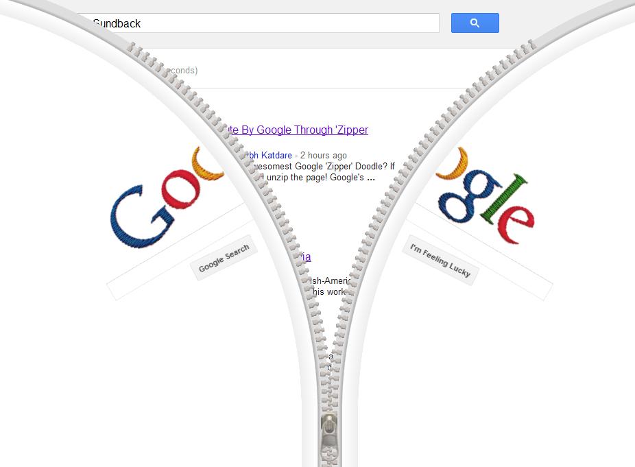 Sundback Google Doodle Zipper, Gideon Sundback Profile, Biography ...