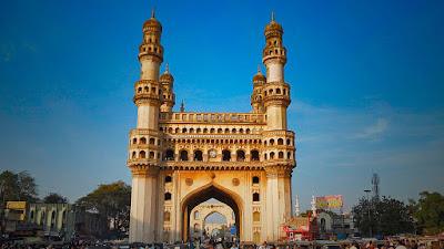 Charminar is the landmark of the Hyderabad city