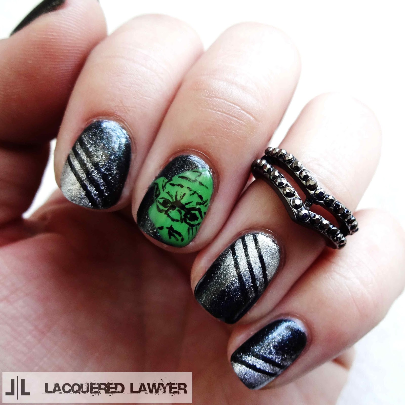 Star Wars Yoda Nail Art