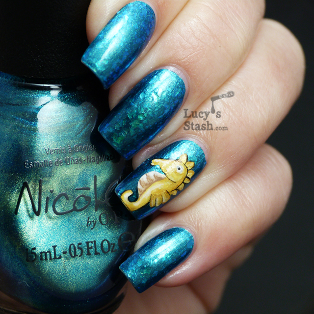 Lucy's Stash - Seahorse manicure