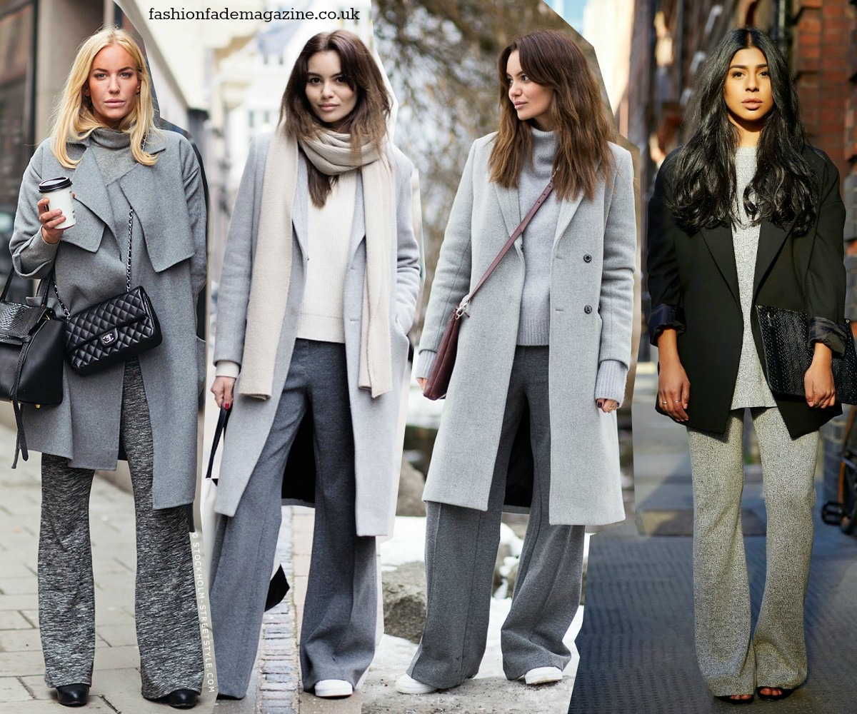 ways-to-wear-flares-trend-fall-winter-2014-2015-streetstyle-outfits-looks-flares-flared-jeans-pants-trousers-grey-knit