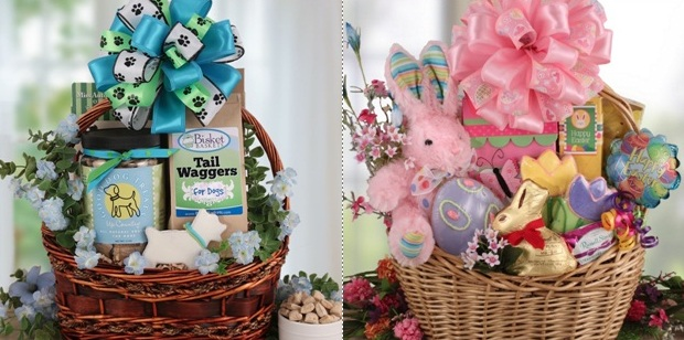 Housewife work easter dog gift baskets bisketbaskets they were the first company to sell pet gift baskets online with a focus on dog gift baskets and they have been in business for over 13 years negle Image collections