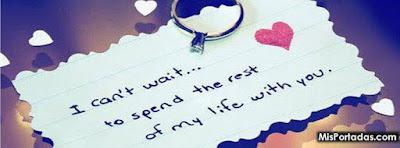 Amor en portadas con lindas y romanticas frases