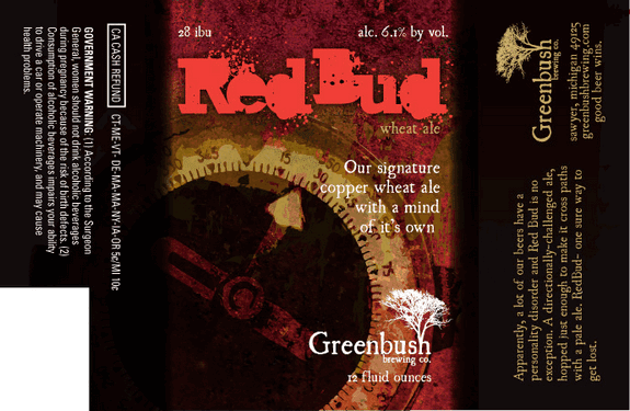 Greenbush Red Bud label