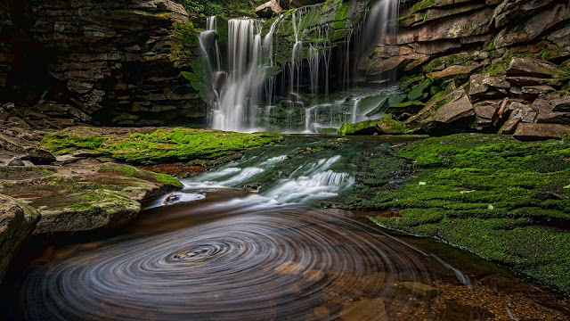 Elakala Waterfall #1 in Blackwater Falls State Park, West Virginia (© Randall Sanger/Tandem Stills + Motion) 671
