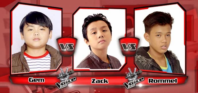 Battle Round between Gem Capalad, Zack Tabuldo and Rommel Bautista on The Voice Kids Philippines Team Bamboo Battle Rounds