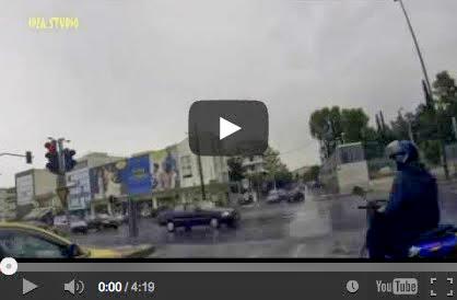 Λ.Μεσογείων προς Πικέρμι υπό Βροχή