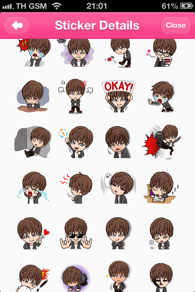 GACKTCH line stickers