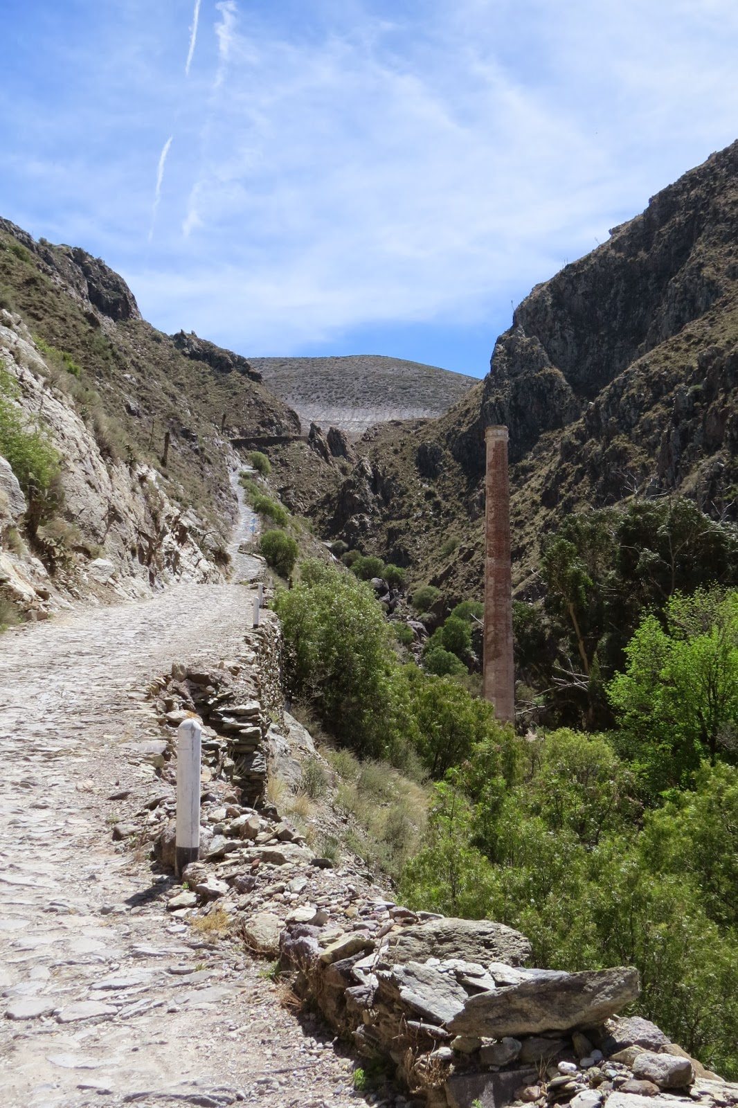 The old road from Estacion de Catorce to Real de Catorce
