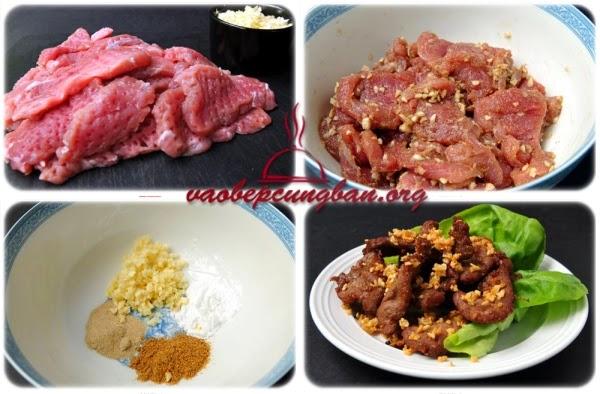 Món thịt heo chiên tỏi thơm nức mũi dễ làm 1