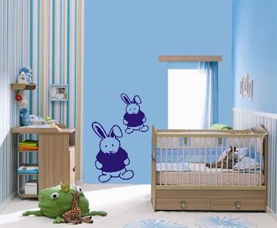 Dormitorio azul colores bebe