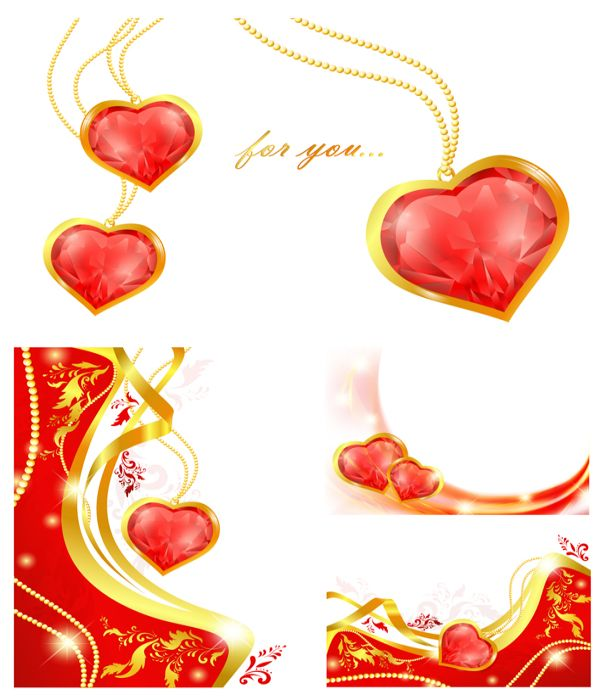 Heart Vector Heartshaped Pendant Graphics