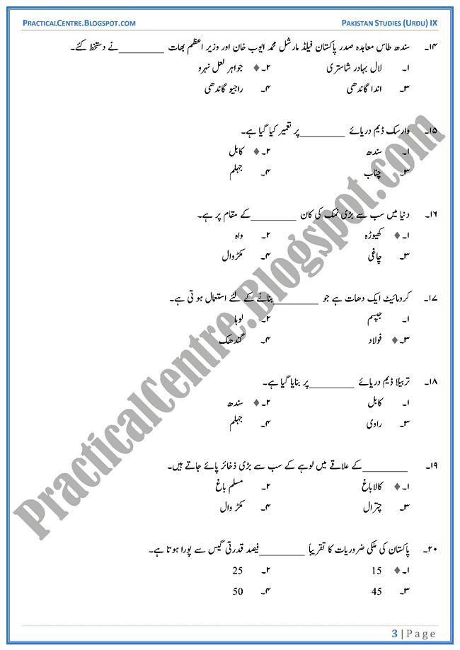 resources-of-pakistan-mcqs-pakistan-studies-urdu-9th
